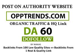 Guest Post on Opptrends - Opptrends.com DA 60 Dofollow Link