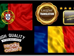 Certified Portuguese Into Romanian Translation (Native speaker)