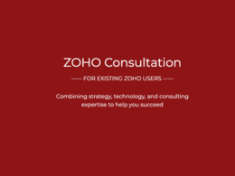 1 Hour Consultation on Zoho: Existing / Advanced Users