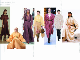 Create a detailed trend board with colour palette