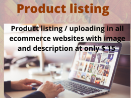 Product listing on every ecommerce website