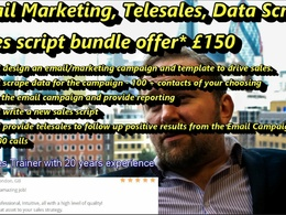 Do email marketing + Telesales + data scraping for 100 contacts