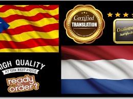 Certified Translation Catalan Into Dutch (500 words)