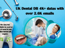 UK Dental DB 4K+ datas with over 2.6K emails