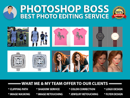 Photoshop editing, photo retouching, color correction, resize