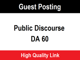 Publish a guest post on thepublicdiscourse.com DA 60