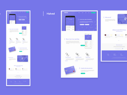 Design a modern & clean Landing page for Web & Mobile devices