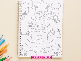 Create one page coloring book