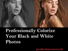 Colourise or add color to 5 black and white image