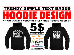 Trendy hoodie or sweatshirt design for your pod business