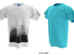 I will do a photorealistic 3D T-Shirt design and rendering