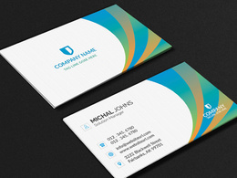 Create eye catching modern minimalist business card