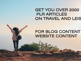 Provide PLR articles on travel and leisure