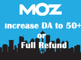 Increase DA to 50+ in 20 days or Refund