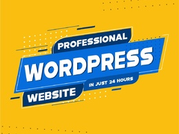Design Responsive WordPress website in just 24 HOURS ( 5 pages)
