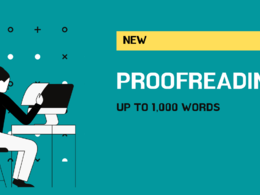 Proofreading & editing of up to 1,000 words in 24 hours