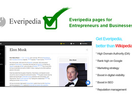 Create an Everipedia page for a Business and an Entrepreneur