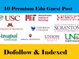 10X .Edu guest post on DA50-95+ websites Dofollow