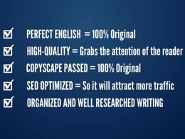 Write 500 words SEO optimised blog post or article