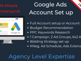 PPC: Google Ads/Google Adwords - Agency Level Set up