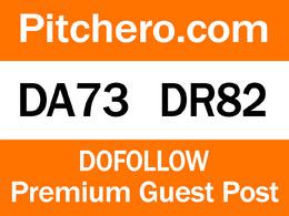 Guest Post on Pitchero.com DA 73