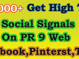 Give you 7000+ Social Signals to Get High Ranking