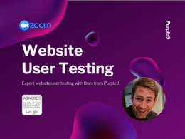 User test your website design with a video review report