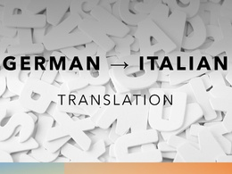 Translate German to Italian Texts (500 words)