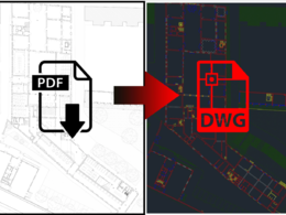 Convert your hand sketch or PDF into an AutoCAD Drawing