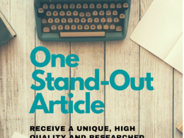 Write a well-researched, engaging, unique article (1000words)