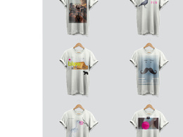 Design a set of six t-shirts