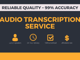 Transcribe and proofread one hour of audio