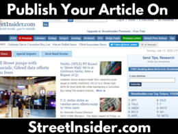Publish your article on StreetInsider.com, Streetinsider .com DA