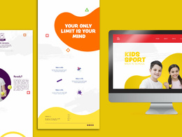 Develop a one page website for you
