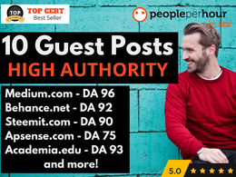 ★ Write & Publish 10 HQ Guest Posts on HIGH AUTHORITY websites ★