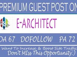 Publish HQ Guest Post on e-architect.co.uk - DA 67