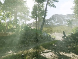 Design an original photorealistic Unreal Engine Level/Scene