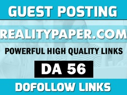 Guest Post on Realitypaper, Realitypaper.com - DA56 indexed Post
