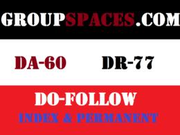 Publish Dofollow Guest Post On Groupspaces DA 60