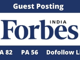 Publish Guest Post on Forbes India DA 82 with Dofollow Link