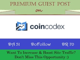 Crypto Guest Post on Coincodex.com - DA 51, DR 70