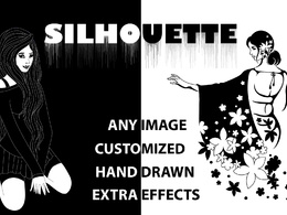 Draw silhouette from images/ ideas / sketches / photos.