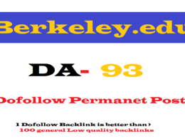 Guest Post on Berkeley.edu DA 93