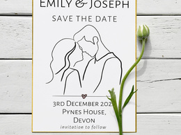 Design a customised save the date / wedding invitation
