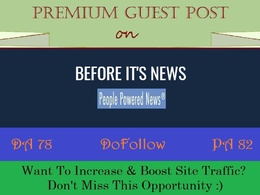 Place Guest Post on News Blog BeforeItsNews.com -DR 77, DOFOLLOW