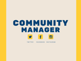 Be your  Community Manager