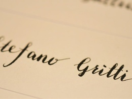Do calligraphy for your signature