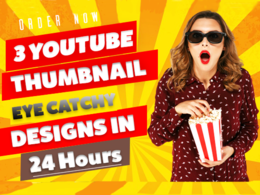 Design an eye catchy Youtube thumbnail in 2 hours