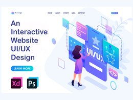 Design 'Professional' UI/UX design for web page in Adobe Xd