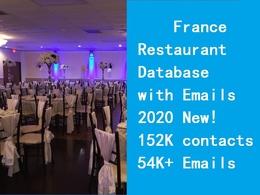Provide France restaurant database include email phone